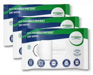 3 Packets of Hygenex Dry Wipes