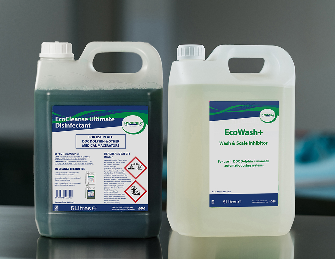 Hygenex Consumables EcoCleanse+ and EcoWash+ Bottles