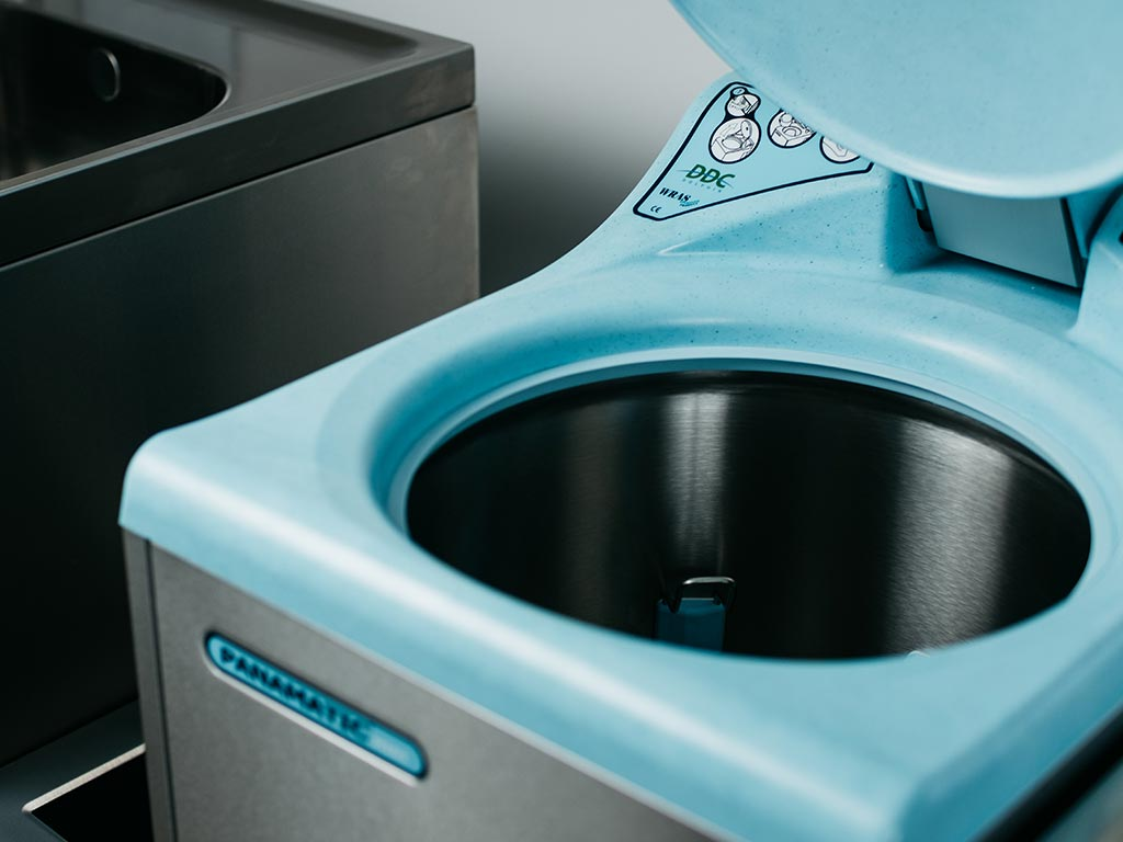 DDC Dolphin Panamatic Midi Bedpan Washer Disinfector Inside