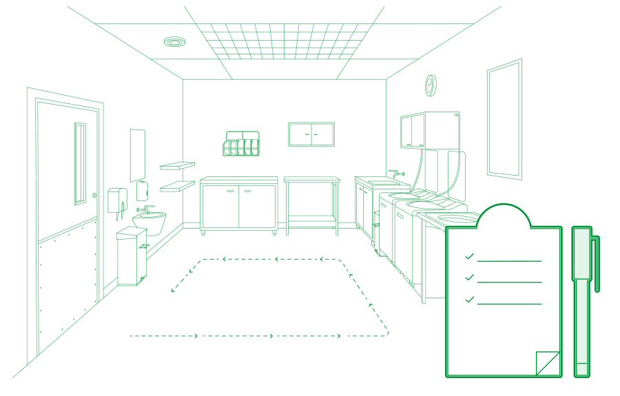 Drawing Of Sluice Room Layout